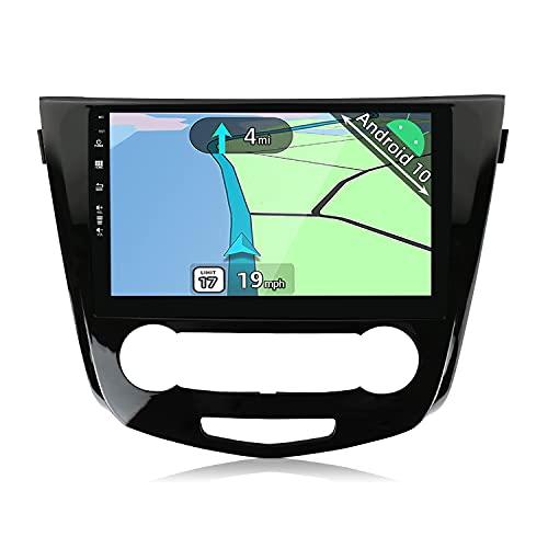 YUNTX Android 10 Autoradio Adatto per Nissan X-Trail Qashqai j11 Rouge(2014-2018)-2G+32G-Telecamera posteriore gratuita&MIC- 10.1 pollici -Supporto DAB/Controllo del Volante/BT 5.0/Carplay/Mirrorlink