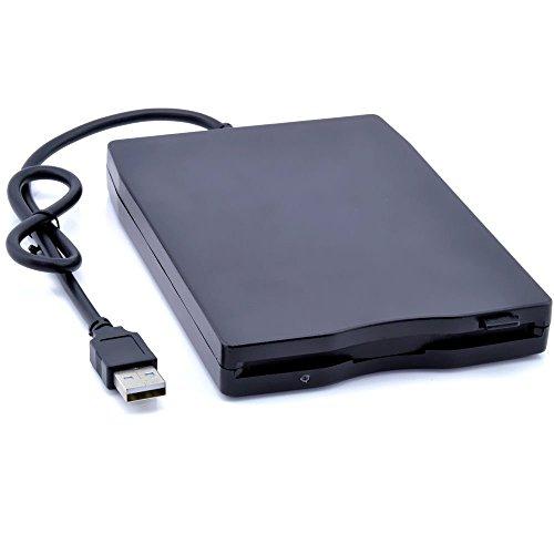 """Elegantstunning - Disco floppy esterno portatile USB da 3,5"""", 1,44 MB FDD, Plug and Play, per PC Windows 2000/XP/Vista/7/8/10 Mac 8.6 o superiore, colore: Nero"""