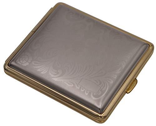 GERMANUS Zigarettenetui, Made in Germany Serie, Silber Gold Farben, Gravierbar
