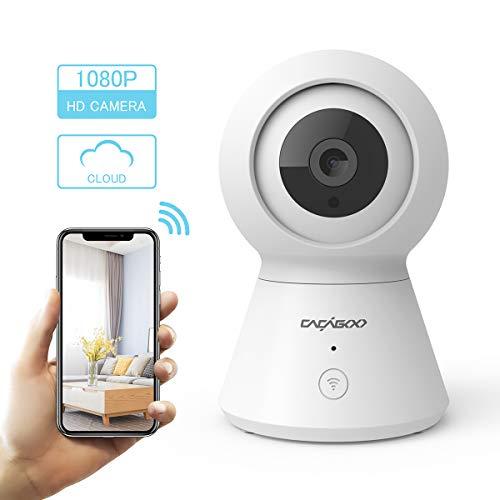 ÜberwachungsKamerainnenWLANHandy,CACAGOO1080PWLANIPKameramit2WegeAudio