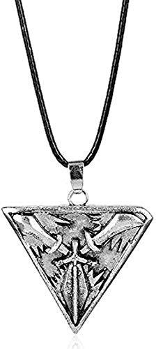 ZGYFJCH Co.,ltd Collar Collar para Hombre Juego League Legends Joyas Trinity Force Cuerda Cadena Collar Triángulo Espadas Armas Colgante para Hombres Mujeres