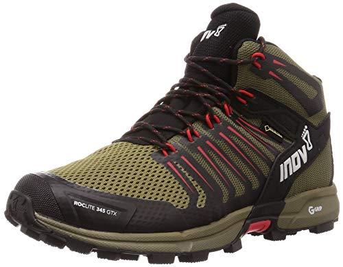 Inov-8 Men's Roclite G 345 GTX Mid Waterproof Lightweight Hiking Running Boots, Brown/Red, 10.5