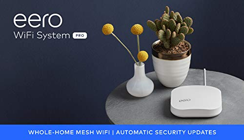 Amazon eero Pro mesh WiFi system (1 Pro + 2 Beacons) 27 Whole-home WiFi system - The Amazon eero Pro mesh WiFi system (3 eero Pros) replaces the traditional WiFi router, WiFi extender, and internet booster by covering a 5+ bedroom home with fast and reliable internet powered by a mesh network. eero 2nd generation - With the most intelligent mesh WiFi technology and powerful hardware, the eero 2nd generation WiFi system is 2x as fast as the original eero WiFi. Backwards compatible with 1st generation eero products. Cutting edge home WiFi - Unlike the common internet routers and wireless access points, eero automatically updates once a month, always keeping your home WiFi system on the cutting edge.