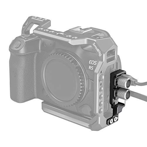 SMALLRIG Abrazadera para Cable HDMI y Abrazadera para Cable USB-C para Cage EOS R5 y R6 - 2981