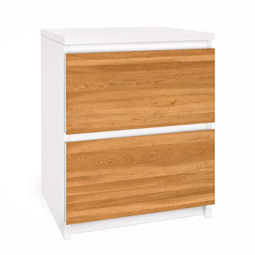 Apalis Vinilo Adhesivo para Muebles IKEA - Malm Dresser 2xDrawers - Nordic Wood Wall, Größe:2 Mal 20cm x 40cm
