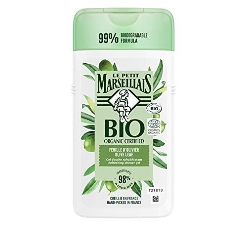 Le Petit Marseillais bio-zertifiziertesDuschgelOlivenblatt(250 ml),pH-hautneutralePflegedusche& sanfteAromaduschemit besonders angenehmen Duft, spendetFeuchtigkeitunderfrischt