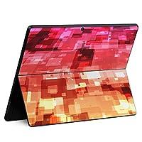 igsticker Surface Pro X 専用スキンシール サーフェス プロ エックス ノートブック ノートパソコン カバー ケース フィルム ステッカー アクセサリー 保護 001960 クール 模様 ピンク 黄色