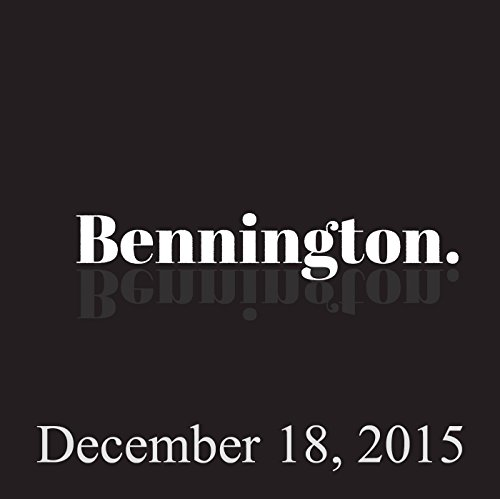 Bennington, December 18, 2015 audiobook cover art