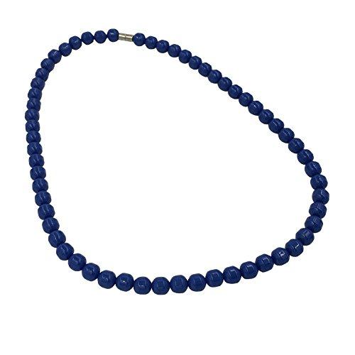 POWER IONICS Collar elástico de turmalina azul con cuentas de iones para la salud (azul)