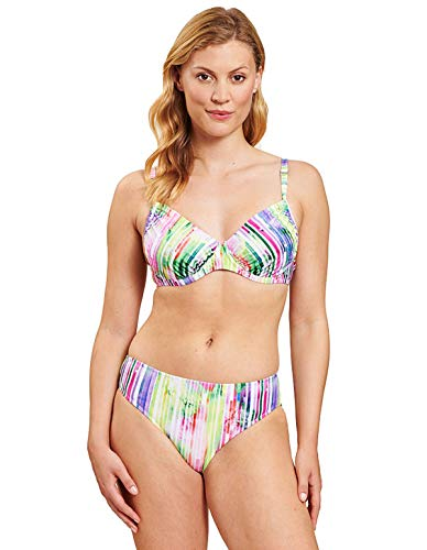Rösch Damen Bikini im Streifenprint - Beach Tropical Sunrise, 1205555 42 E E Stripe Multicolor