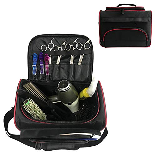 Bolso de peluquero portátil, Estuche de peluquería, Caja de viaje de barbero para llevar cortadoras de cabello, tijeras y peines