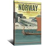ASFGH Norwegen Oslo Vintage Reise Poster Dekor Malerei