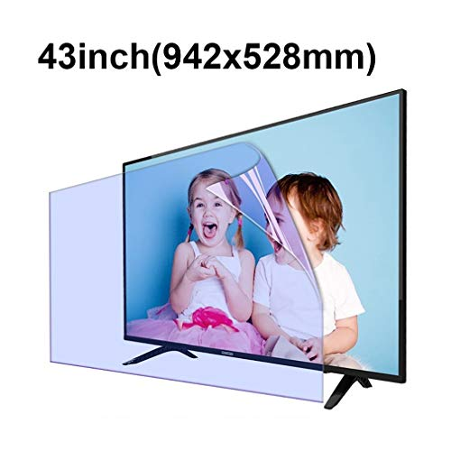 KUYUC 43 Pulgadas TV Protector de Pantalla, HD Anti luz Azul Película Protectora, Anti-Reflejos Anti-Scratch para Monitores LCD PC (Color : A)