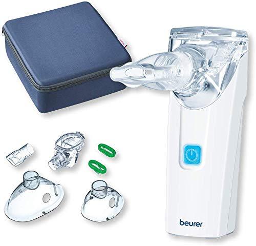 Beurer inhalatieapparaat IH55 / vernevelaar met vibrerend membraan/draagbaar en stil/zelfreinigingsfunctie/medische inhalator/bij aandoeningen van de luchtwegen