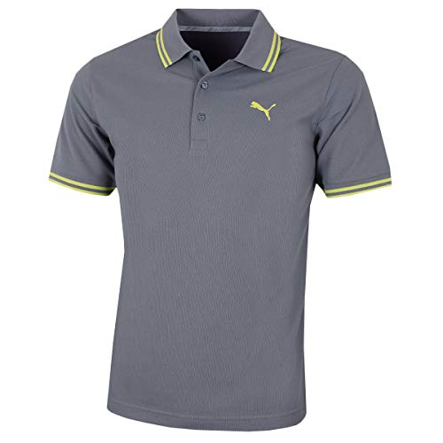 Puma Golf Herren Anspringen Pique Polo-Hemd - Quiet Shade - S