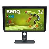 BenQ SW321C 32型プロ向けモニター(4K/HDR10/HLG/IPS/AdobeRGB 99%/P3 95%/USB-C/60W給電/HWキャリブレーション/ムラ補正/遮光フード)