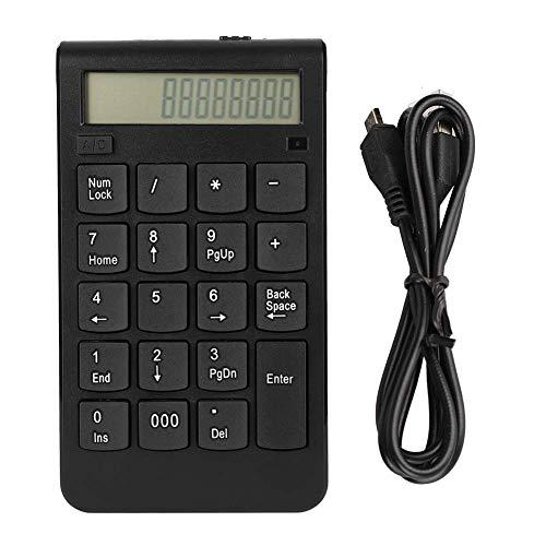 Teclados numéricos inalámbricos 2.4G Teclado numérico de 29 teclas con pantalla LCD Mini teclado numérico delgado portátil para la entrada de datos de contabilidad financiera