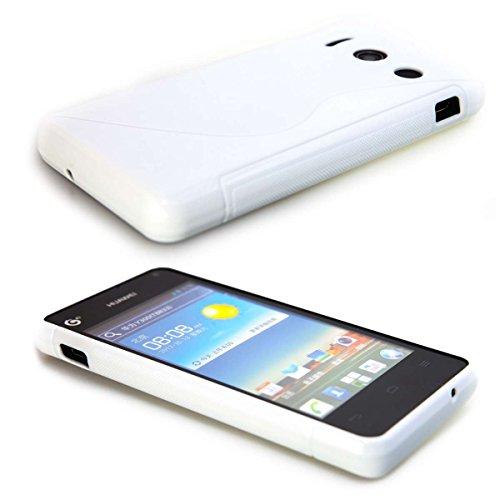 caseroxx TPU-Hülle für Huawei Ascend Y300, Handy Hülle Tasche (TPU-Hülle in weiß)
