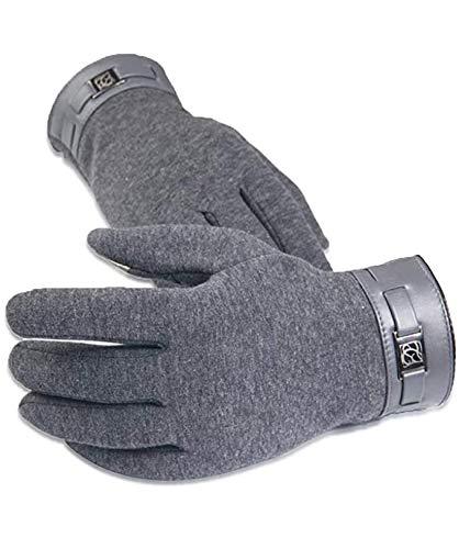 WENTS Herren Wildleder Touch Screen Handschuhe Winter-Vollfinger Cashmere Handschuhe rutschfest Winddicht, Outdoor für Radfahren Laufen Fahren Camping Wandern Reiten Bergsteigen (1Pcs)