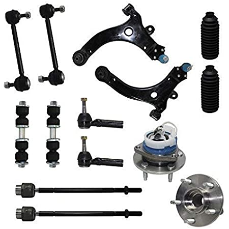 16pc Front Upper Control Arms w//Ball Joints Inner Outer Tie Rods Sway Bar Links /& Wheel Hub Bearings Replacement for 2000-2003 Ford F-150 4WD 5 Stud Detroit Axle See Fitment