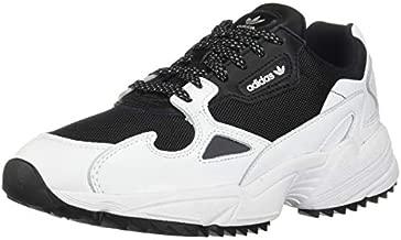 adidas Originals Women's Falcon Trail Running Shoe, Black/White/Night Metallic, 8.5 M US