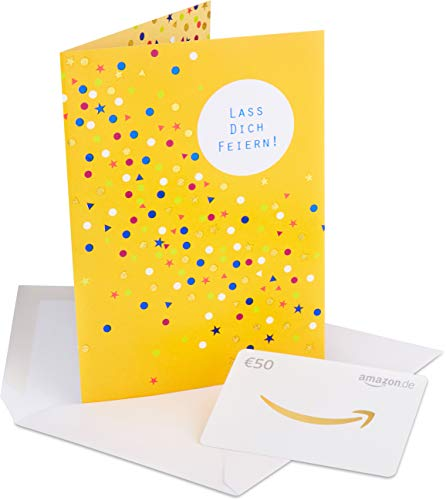 Amazon.de Geschenkkarte in Premium Grußkarte - 50 EUR (Alles Gute)