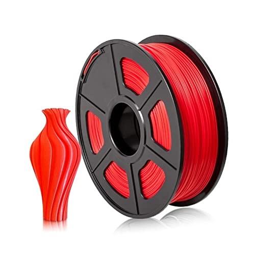 OPYTR Filamento de Impresión 3D PLA Filamento 1kg Impresora 3D Extrusora Filamento Mármol 1.75mm Materiales de impresión FDM 3D Consumibles for la Impresora Seda Brillante (Color : PLA Red)