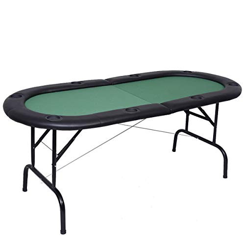 Find Bargain AchieveUSA 8 Players Texas Holdem Foldable Poker Table