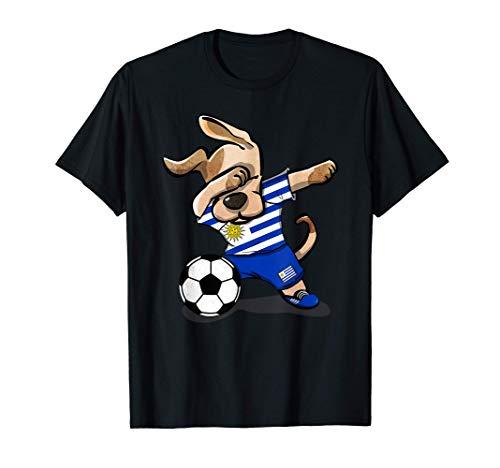 Perro Dabbing Uruguay Fútbol Bandera Uruguaya Fútbol Camiseta