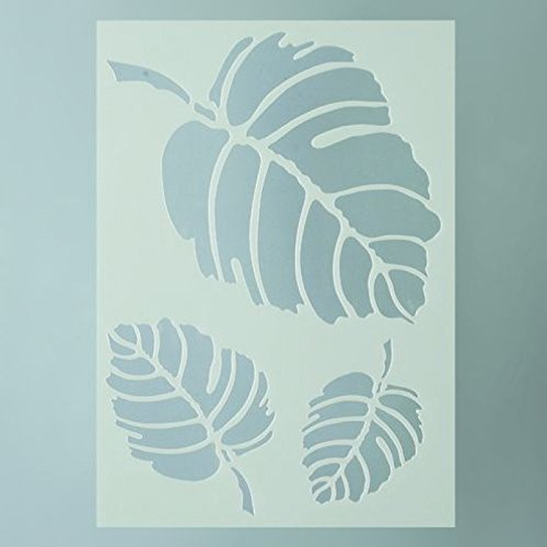efco Schablone Blätter/3Designs DIN, Kunststoff, transparent, A 5