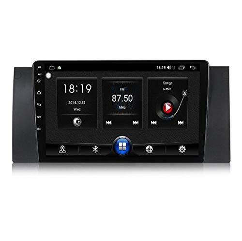 Yuahwyehe Android Autoradio Lettore MP5 Bluetooth,2 DIN Dash Auto Stereo Radio Dvd Navigazione,per 5 Series BMW E39 X5 E53 Player con Radio FM AM RDS Chiamata Vivavoce SWC,7731,1G+16G