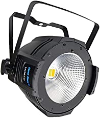 SevenStars DJ lights COB Warm and Cold White Par Lighting, 100W DMX Par Light Sound Activated, Professional Stage lights for Wedding, Small Concert, Disco, Party, Club, Camping