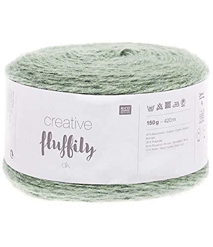 Creative Fluffily mit Glitzerfaden, Farbe 002 , mint, 150 gramm