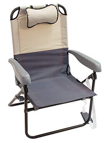 Rio Gear Sideline Folding Outdoor Lightweight Rocker Chair - Putty/Slate