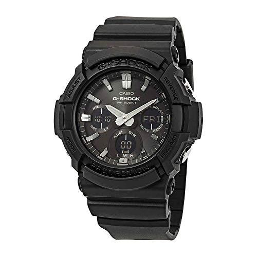 Casio GAS100B-1A G-Shock Tough Solar Men\'s Watch Black 55.1mm Resin/Aluminum case