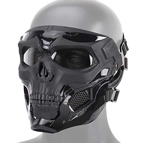 zowam Máscara de calavera Airsoft, resistente a los impacto