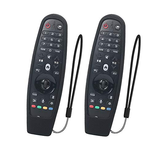 SIKAI 2-Pack Funda Protectora Compatible con LG Smart TV Mando a Distancia AN-MR600 / AN-MR650 / AN-MR650A / AN-MR18BA Magic Remote Carcasa de Silicona Resistente a Prueba de Golpes (Nero)
