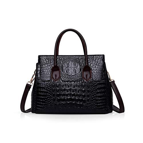 NICOLE & DORIS Taschen Handtaschen designer taschen Krokodil Top umhängetasche luxuriöse ledertasche damen PU Leder Schwarz