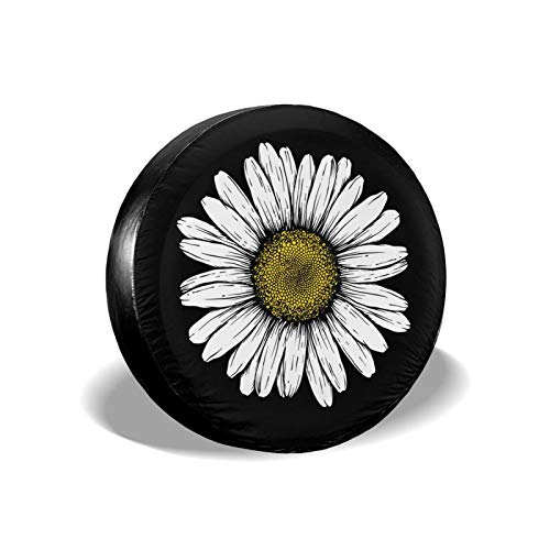 Daisy Flower Spare Tire Cover Waterproof Dust-Proof UV Sun Wheel Tire Cover Fit for Jeep,Trailer,...