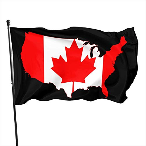 WH-CLA Garden Flag Mapa De EE. UU. Impresión Canadiense Patio Trasero Actividades Al Aire Libre Jardín Interior Banderas De Patio 150X90 Cm Banderas De Pared para El Hogar Decoración FES