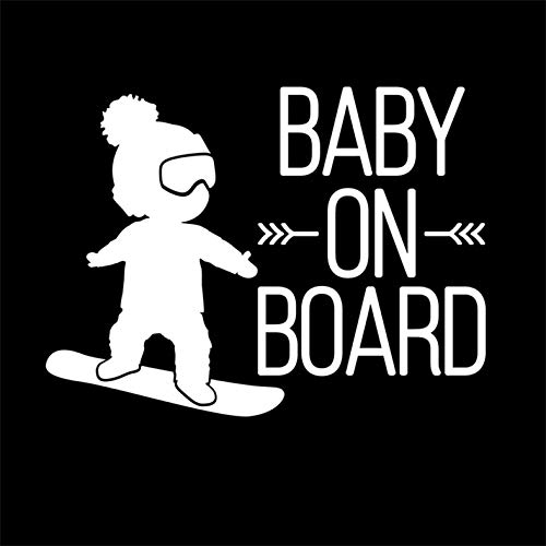 mural stickers Adesivo Bebe a Bordo Snowboard - Bambino a Bordo - Bambina a Bordo - Adatti per Auto - Moto E Computer - - - Sticker, Decal, Adesivo - - - Copyright © 2017 (Bianco)