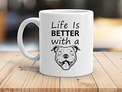 N\A Pitbull, Pitbulls, Pitbull-Kaffeetasse, Geschenk für Pitbull-Liebhaber, Pitbull-Geschenk