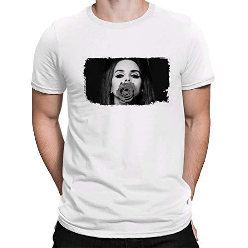 Lana del Rey, Camiseta, t Shirt, Shirt Ultraviolence, Retro, Camiseta para Hombre Manga Corta Hombre Camisetas Cuello Redondo Moda Camisetas, Blanco