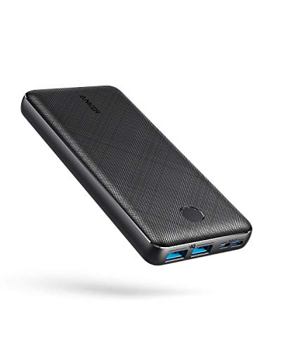 Anker Portable Charger, PowerCore Essential 20000mAh Power Bank with PowerIQ Technology and USB-C (Input Only), High-Capacity External Battery Pack Compatible with iPhone, Samsung, iPad, and More.