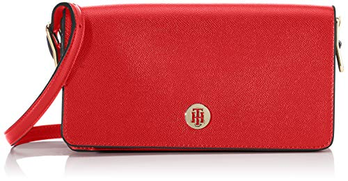 Tommy Hilfiger Damen Honey Flap Crossover Umhängetasche, Rot (Barbados Cherry), 1x1x1 cm