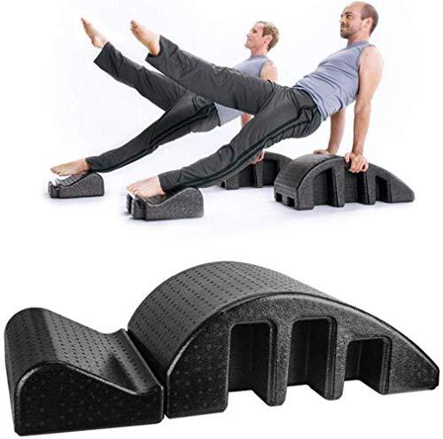 YF-SURINA Equipo deportivo Masaje Cama Yoga Pilates Alineador de columna, Equipo de curvatura cervical delgada, Corrección de columna, Entrenamiento de rehabilitación adecuado, Arco negro