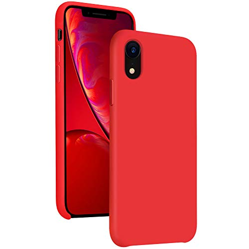 Diaclara Silicone iPhone XR Case Red, 6.1 iPhone 10R Cases Hybrid Gel Rubber Slim Classic Bumper Shockproof Drop Protective Cover for Apple iPhone 2018(Red, 6.1)