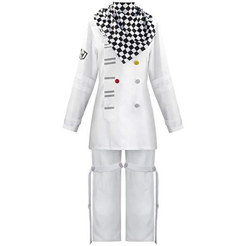 Saicowordist Danganronpa V3 Kokichi Oma Cape blanche uniforme scolaire costume pour homme (S taille)