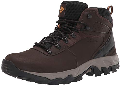 Columbia mens Newton Ridge Plus Ii Waterproof Boot Hiking Shoe, Cordovan/Squash, 9.5 US