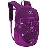 HIGHLANDER Zainetto 20L - Zainetto da Trekking per Uomini e Donne - Zaino Venture (Color Oliva) (Viola)